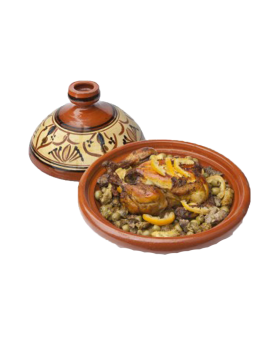 Tagine aux pommes de terre, olives et citrons confits