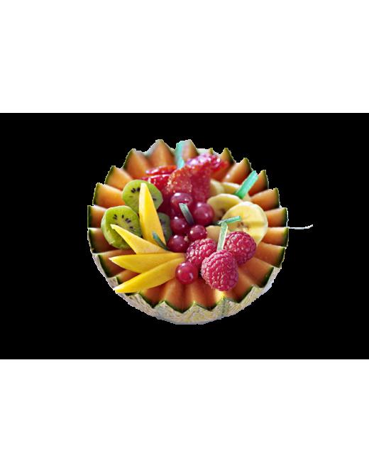 Salade de fruits rafraichie à la fleur d'oranger